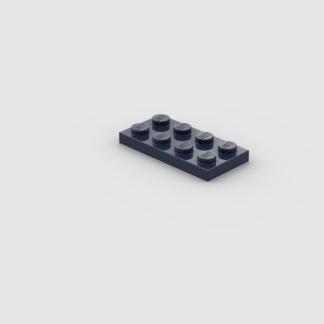 LEGO Part Dark Blue Plate 2 x 4