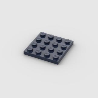 LEGO Part Dark Blue Plate 4x4
