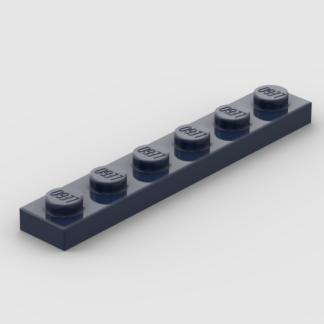 LEGO Part Dark Blue Plate 1 x 6