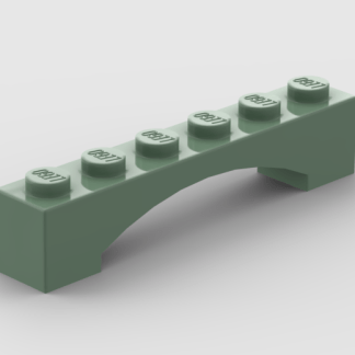LEGO Part Sand Green Arch 1 x 6 Raised Arch
