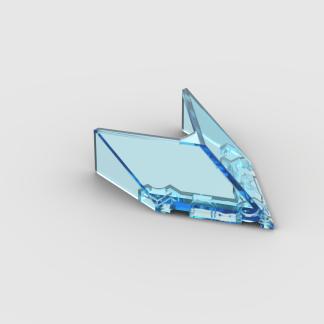 LEGO Part Trans-Light Blue Windscreen 6 x 4 x 1 1/3 Pointed