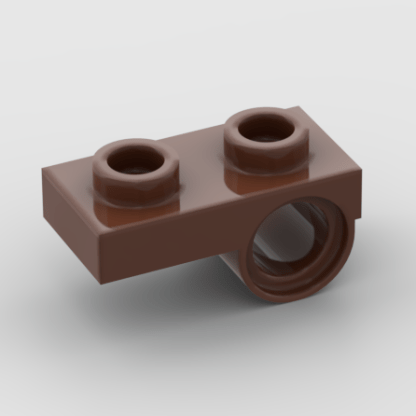 LEGO Part Reddish Brown Plate, Modified 1 x 2 with Pin Hole on Bottom