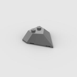 LEGO Part Pearl Dark Grey Wedge 4 x 4 Pointed