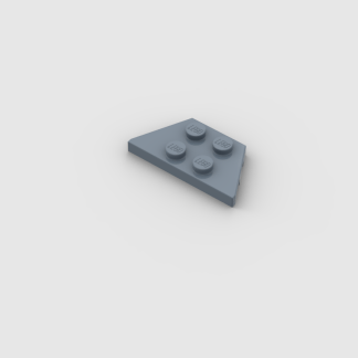 LEGO Part Sand Blue Wedge, Plate 2 x 4