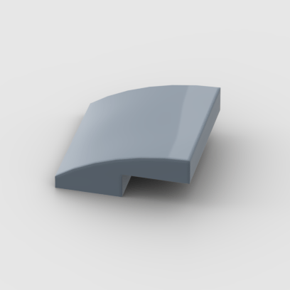 LEGO Part Sand Blue Slope, Curved 2 x 2