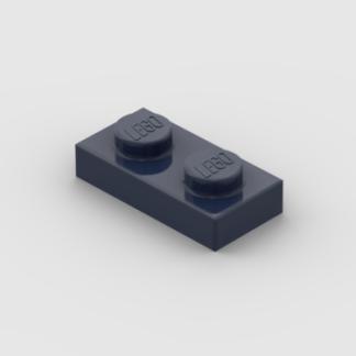 LEGO Part Dark Blue Plate 1x2