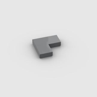 LEGO Part Dark Bluish Gray Tile 2 x 2 Corner