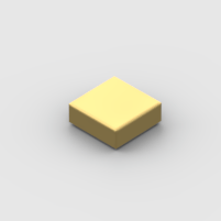 LEGO Part Metallic Gold Tile 1 x 1 with Groove