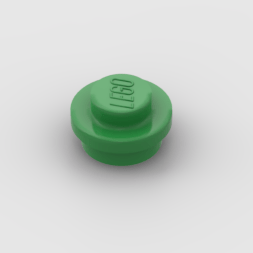 LEGO Part Green Plate, Round 1 x 1