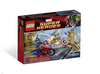Lego Captain America 6865 Box