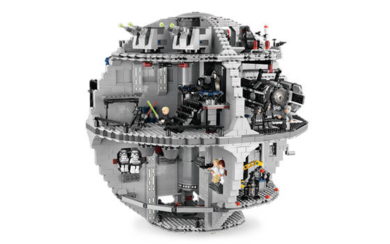 Lego Death Star Set Sideview