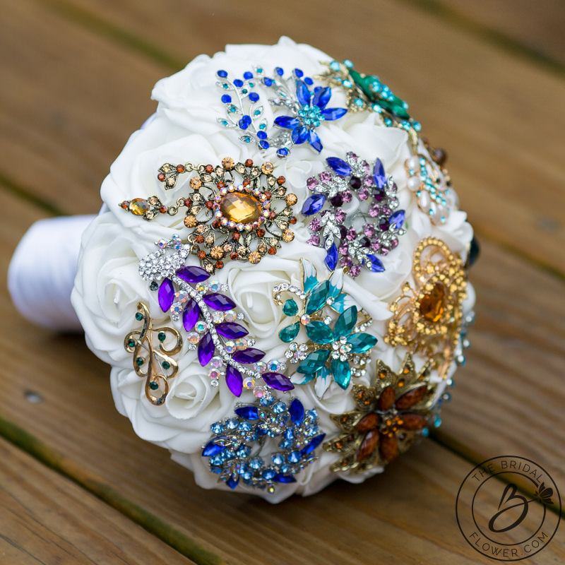 Brooch Bouquet Boho Themed Simple And Colorful The