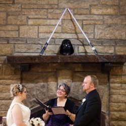Star Wars wedding! Photo by TrueLee Photography