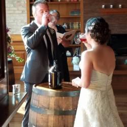 Beer sharing ritual! Photo by John Hererra