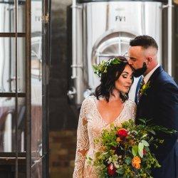 Boho brewery wedding