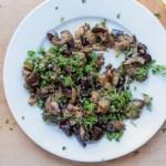 Pan Charred Eggplant & Caper Salad