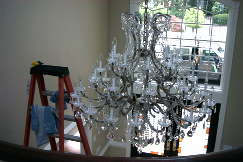 If You Have A Crystal Chandelier That Needs Cleaning We Will Need Picture Sent To Us Or Do An Onsite Estimate Give The Best Price