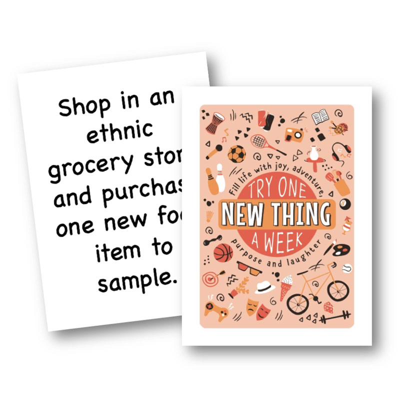 Try One New Thing A Week Card Deck The Brimful Life