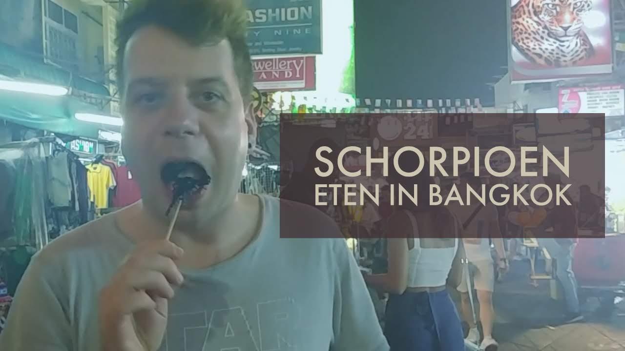 VLOG: Schorpioen eten in Bangkok!