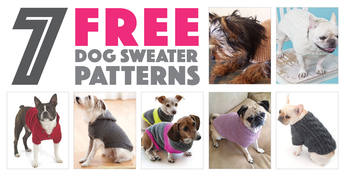 Free Knitted Dog Coat Patterns : Seven Free Dog Sweater Patterns - The Broke Dog