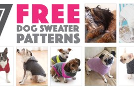 Seven Free Dog Sweater Patterns