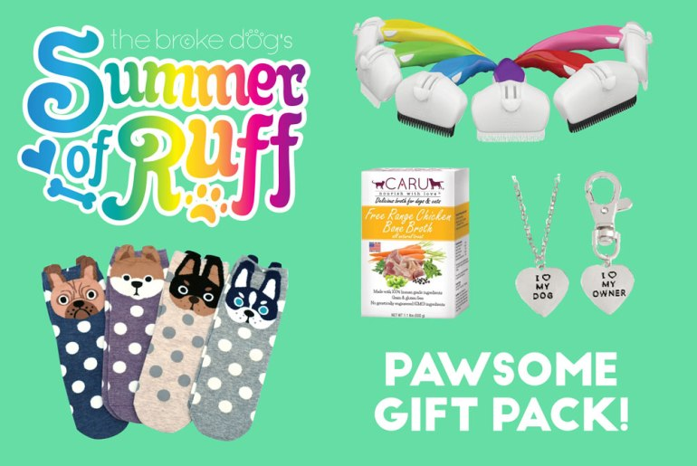 It's time for Week 5 of our weekly Summer of Ruff giveaway series! This week, we're giving away a super fun gift pack so you can spoil both you and your dog!
