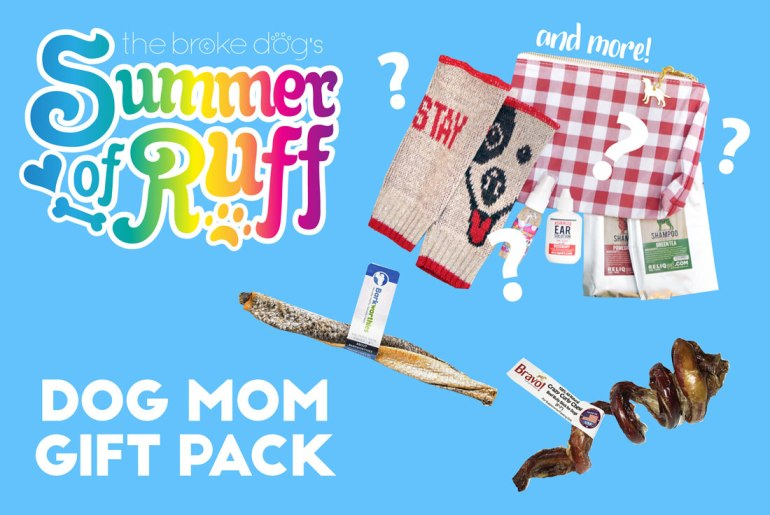 "We're back for Week 6 of our weekly Summer of Ruff giveaway series! This week, we're giving away a super fun gift pack I'm calling the ""Dog Mom"" Gift Pack because it includes some goodies for you as well as for your dog!"