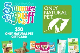 It's time for another Summer of Ruff Giveaway! This week we're partnering with Only Natural Pet to bring one lucky winner a $50 Only Natural Pet gift card!