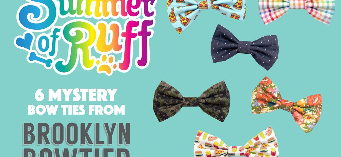 Summer of Ruff Giveaway #11: 6 Mystery Brooklyn Bowtied Bow Ties!