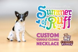 You may know Cuddle Clones for their realistic custom per creations. We're giving away a custom pet necklace to one lucky winner!
