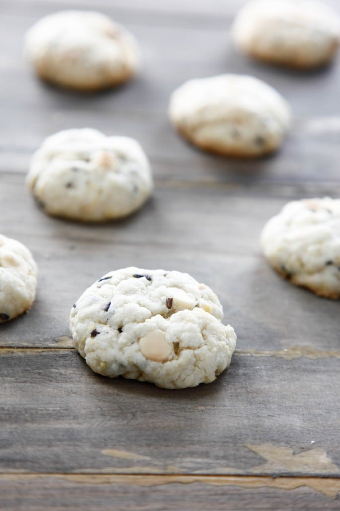 White Chocolate Lavender Cookies