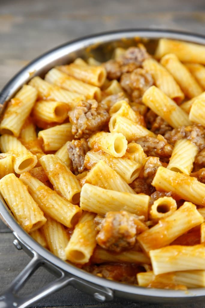 Butternut Squash Pasta with Sausage