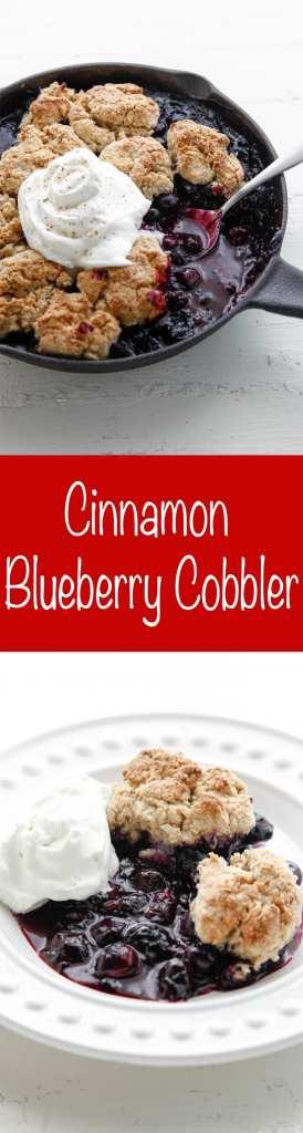 Cinnamon Blueberry Cobbler