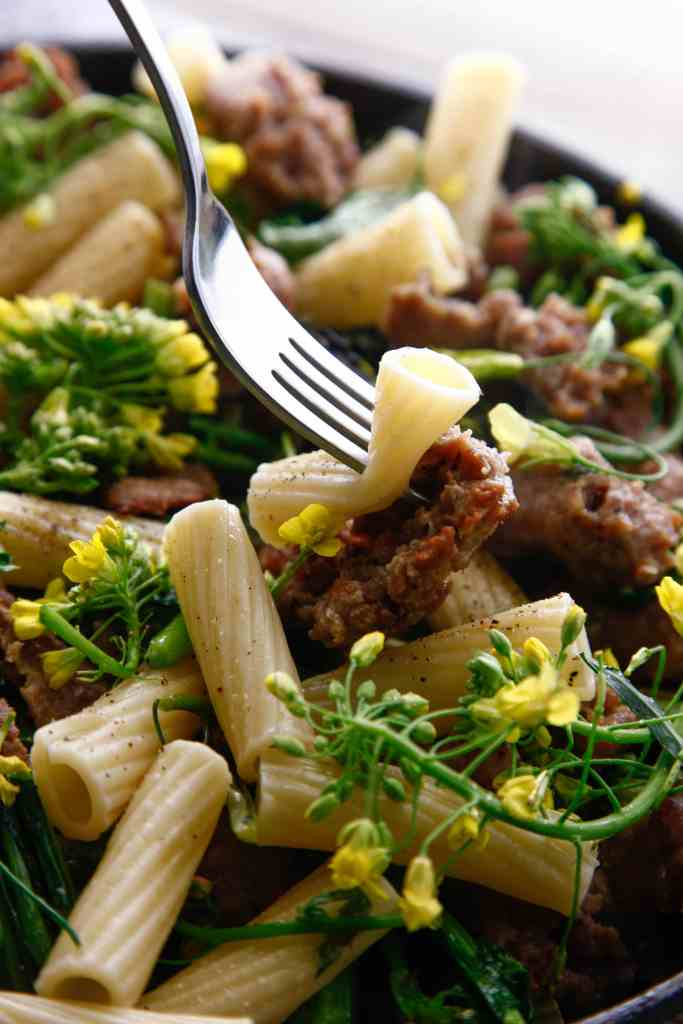 sausage with broccoli rabe_-7