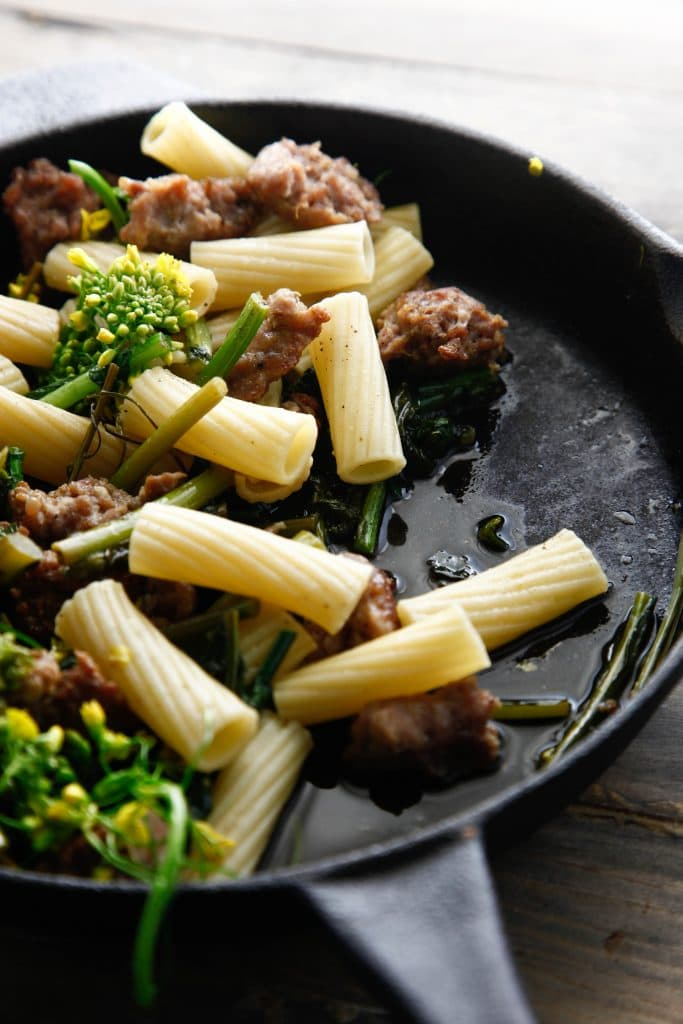 sausage with broccoli rabe_-8