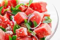 Savory Mint Watermelon Salad