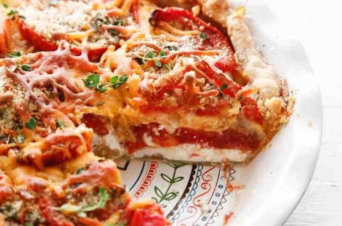 Heirloom Tomato and Veggie Pie
