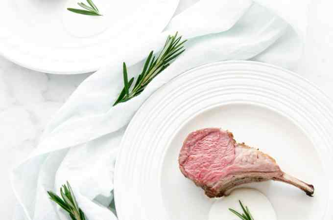 Roasted Rosemary Rack of Lamb with Mint Sauce