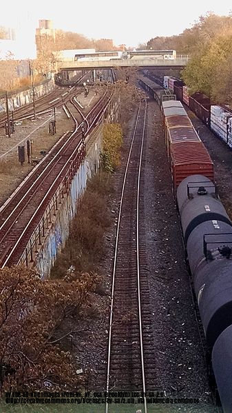 Freight Cars and Tankers On the Bay Ridge Branch