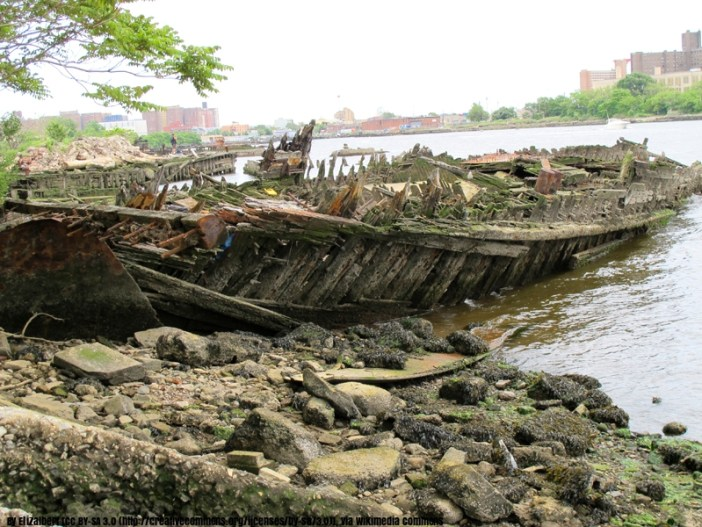 Wreck in Coney Island Creek
