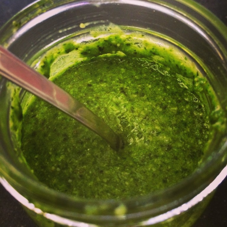 How to Make Ramp Basil Pesto