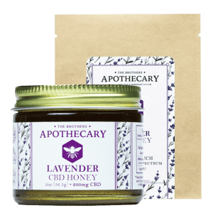 Lavender CBD Honey Jar and Bag