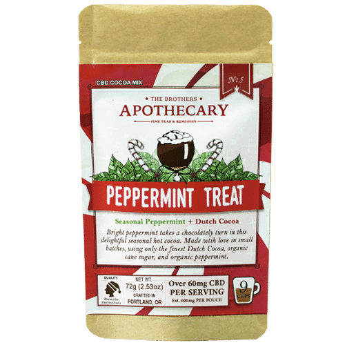 Peppermint Treat CBD Cocoa Front