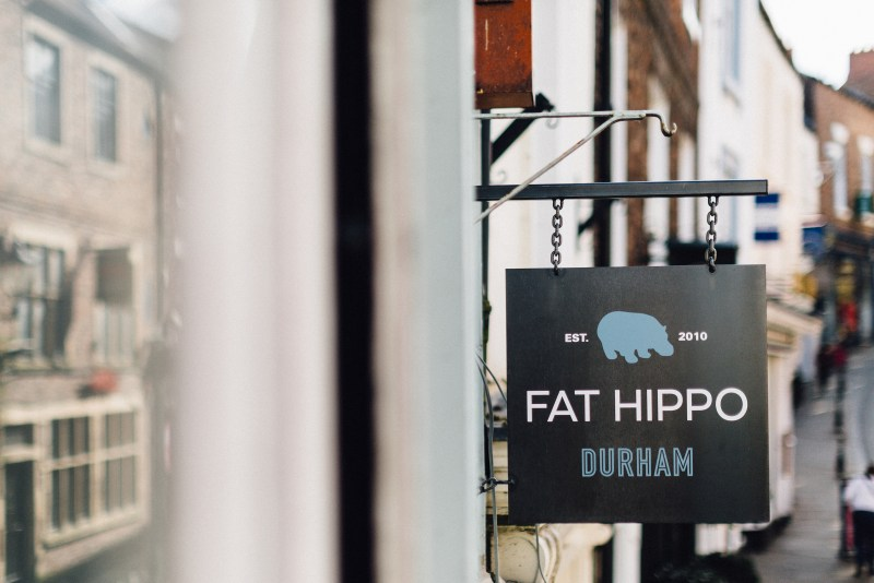 Fat Hippo Durham sign board
