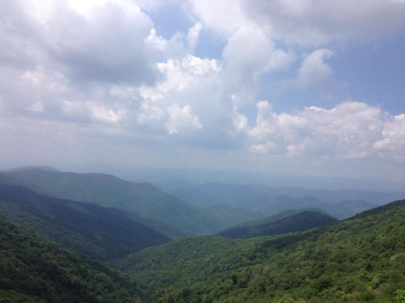 The Great Smokey Mountains in North Carolina.