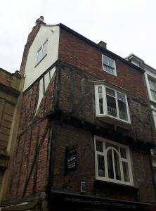The only timber framed building left in Durham