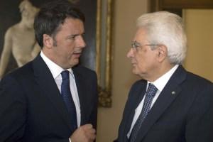 Prime Minister Matteo Renzi (left) and President Sergio Mattarella (right) are the faces of power in Italy
