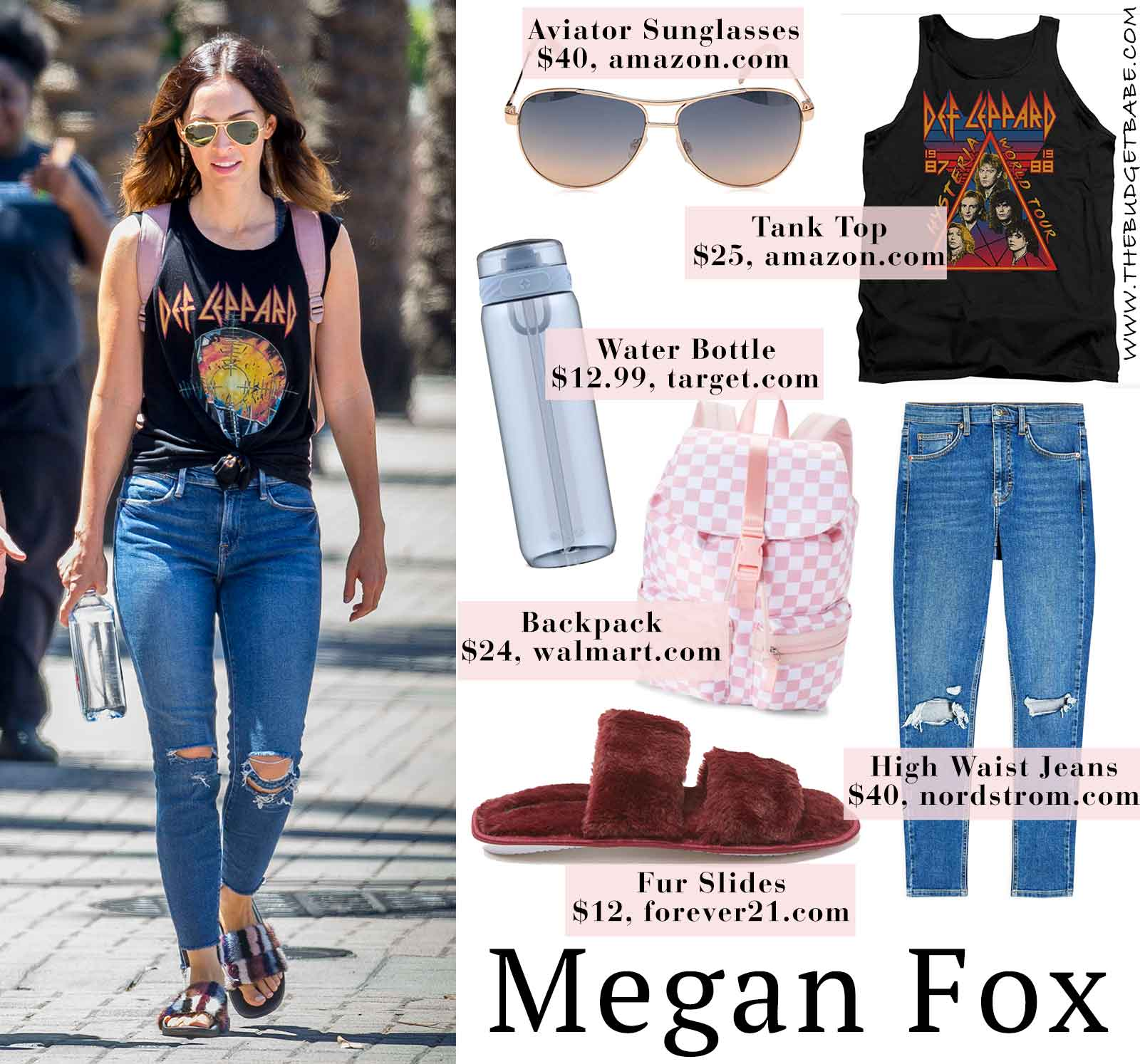Photo of Megan Fox's Def Leppard Tank and Fuzzy Slides + Best Fourth of July Sales