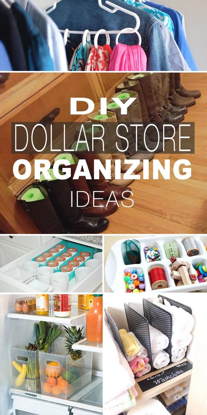 dollar store organization ideas hacks