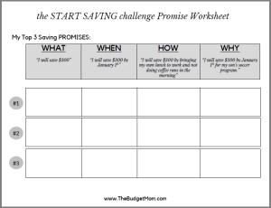 Promises Worksheet for Blog